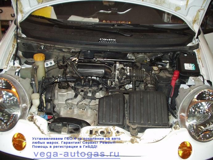 Установка ГБО ALPHA 4 и 35 литрового торового баллона на Daewoo Matiz (объём двигателя 0,8 л) Нижний Новгород Дзержинск